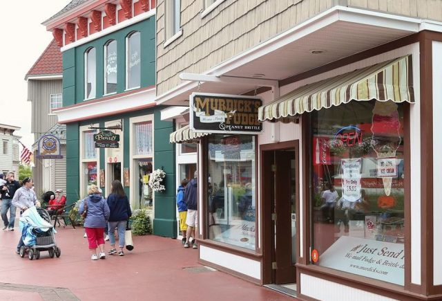 The authentic Original Murdick's Fudge shop is inside Mackinaw Crossings.
