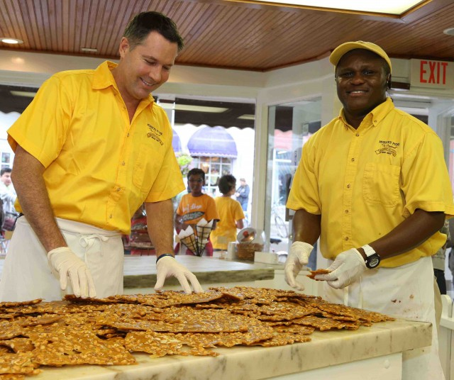 Bobby Benser and Carnel will start making fresh fudge today for holiday gift boxes.