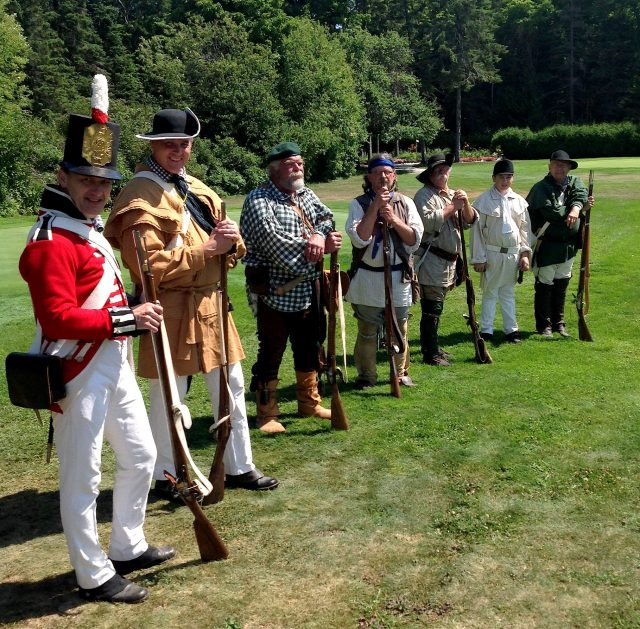 Reenactors representing the British side readied for the 200th anniversary of the Battle of 1814 on Mackinac Island on the Wawashkamo Golf Course.