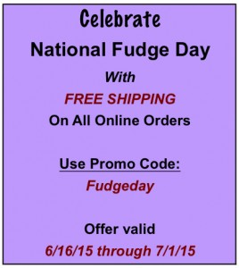 Murdick's National Fudge Day Special Offer