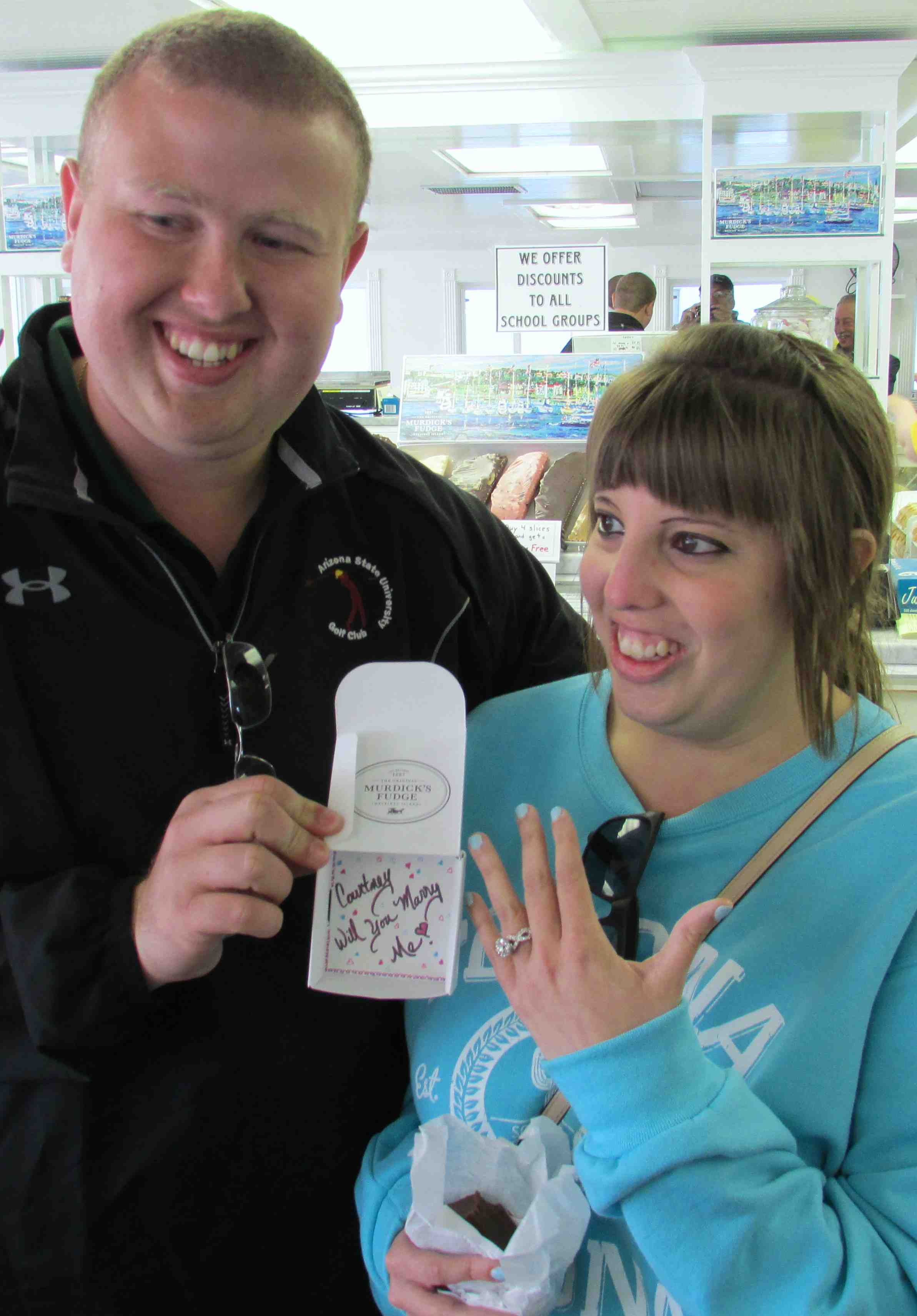 Sweet Marriage Proposal Unfolds At Our Mackinac Island Fudge Shop