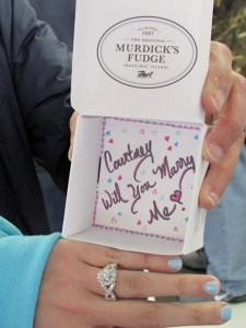 Original Murdick's Fudge Wedding Proposal Box