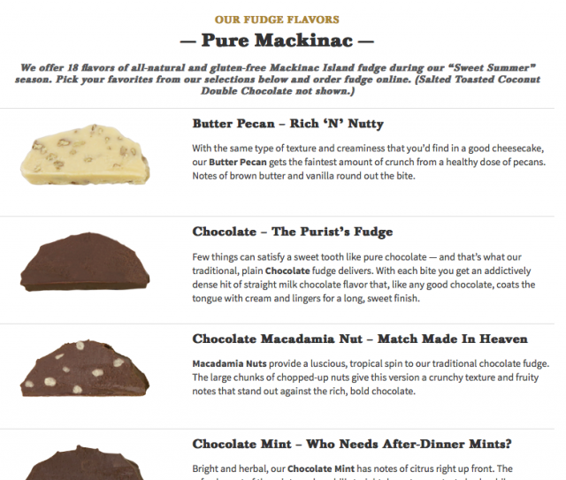 Murdick's Fudge Flavors